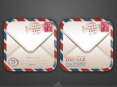 Postale Icon App envelope mail postal stamp icon weird