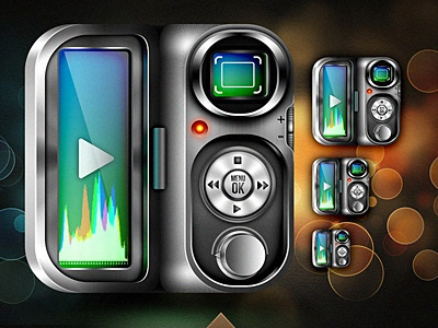 VidCam Icon icon video iphone ios metal recorder weird