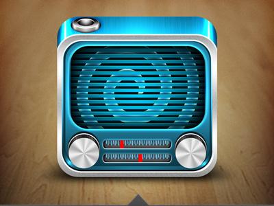 Radio radio icon ios blue knob weird