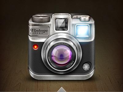 A Camera App Icon camera icon lens ios iphone vintage weird