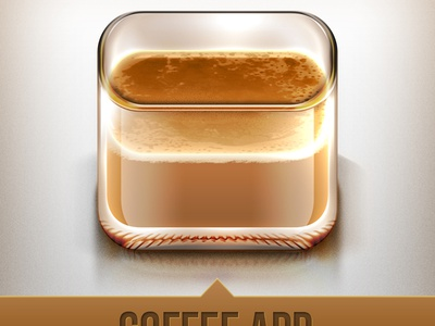 an Icon for Coffee Lovers coffee icon ios iphone latte weird