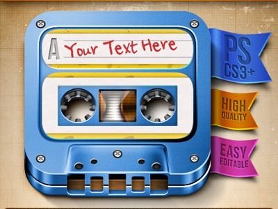 Cassette Icon Invasion!! download icon cassette psd music record weird