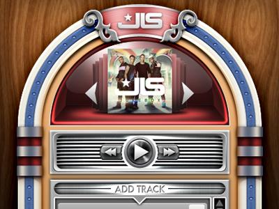 Jukebox UI music ui user interface jukebox facebook player track application