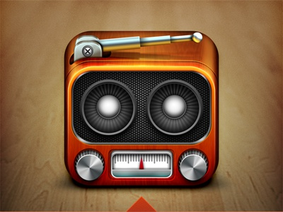Radio App Icon radio icon ios iphone knob speaker weird