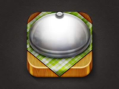 Restaurant App Icon icon ios iphone food restaurant table dish weird