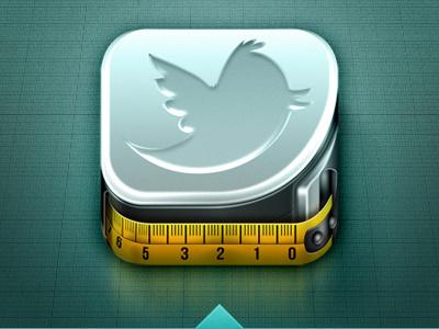Tweetmeter twitter icon ios iphone measure scale bird meter weird