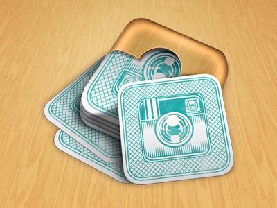 Instamatch Game Splash Screen instagram card games splash wood matching photos icon iphone ipad ios weird