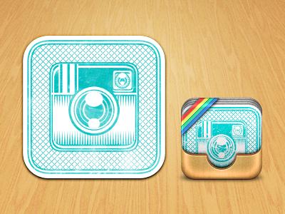 Instamatch Icon instagram card games splash wood matching photos icon iphone ipad ios weird