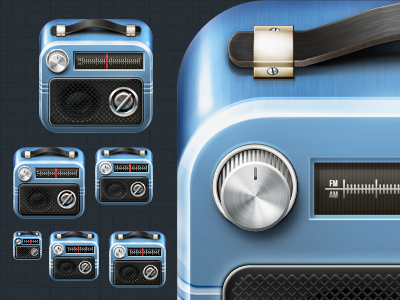 Icon Package radio icon ios iphone knob speaker blue package pixel perfect weird