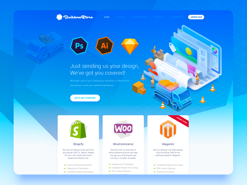 BuildMeStore Web Design sketchapp illustrator photoshop pricing web developer developer store web web illustration landing page website webdesign weirdsgn