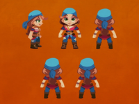 Female Pirate Animation