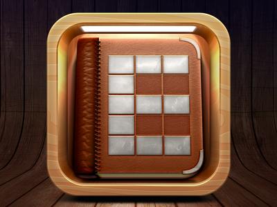 iOS Bookshelf App Icon