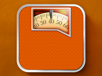 iOS Klout Meter Icon scale weight klout app icon ios