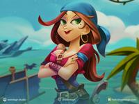 Female Pirate Animation