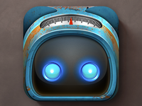 iOS Robot Personal Assistant App Icon Design