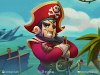 Male Pirate Animation Character