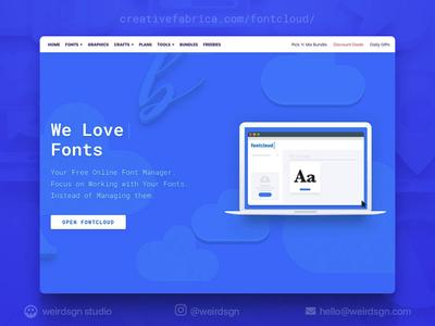 FontCloud Landing Page