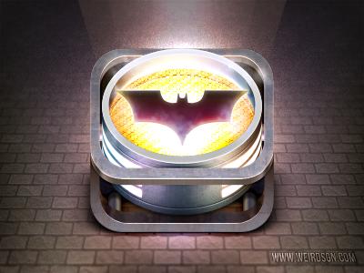 iBatsignal batman icon spotlight signal gotham lamp weird
