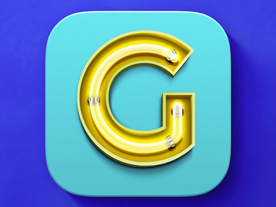 iOS Neon Sign Icon