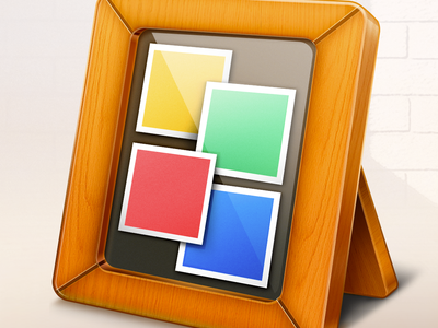 Mac OSX iCollage Template App Icon