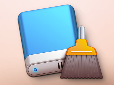 Mac OSX External Hard Drive Cleaner App Icon weirdsgn drive harddrive harddisk disk broom cleaner macosx mac icon app app icon utility