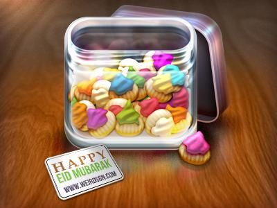 Happy Eid-ul Fitr :) eid icon jar moslem mubarak cookies weird