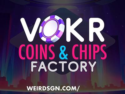VOKR Coin & Chip Factory unity developer gamedev builder gambling jackpot blackjack vegas download freebie photoshop psd generator poker coin chip icon icon set iap in-app-purchase