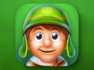 Game Character Icon photoshop game mariobros green mascot character gamedsgn weirdsgn ios icon app