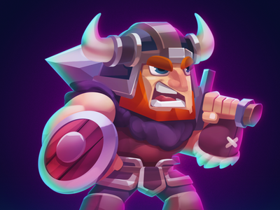 TCG Character: Warrior spriter unity medieval warrior cards game art game design character tcg game