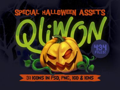 QLIWON – Halloween Icon Set