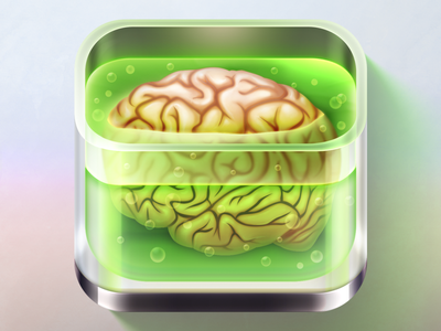 Brain in Jar lab monster zombie realistic skeuomorph jar halloween brain gamedsgn ios icon iconaday icon design icon