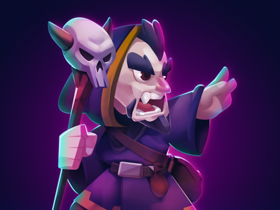 TCG Character: Warlock fantasy medieval unity twitch sticker avatar mascot character game trading card tcg warlock