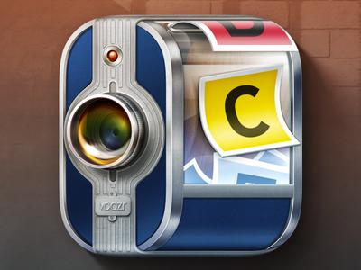 IOS Pikr Voting APP Icon skeuomorphism realistic voozr election appdev icon app camera vote voting