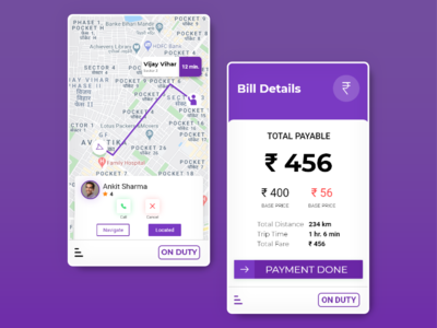 UI Design for Taxi Driver's App