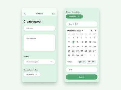 Create post in social media calendar mobile app create post in social media