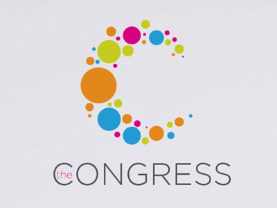 Congress artist collective dots c logo branding