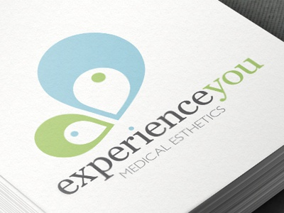 Experienceyou logo development logo butterfly esthetics branding