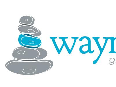 Waymark Logo branding logo lawyer cairn staked