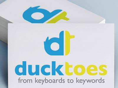 Ducktoes Logo logo branding duck