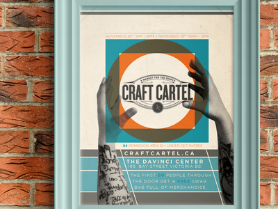 Craft Cartel 8.5 x11 poster poster design