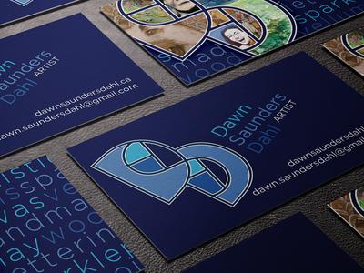 Dawn Saunders Dahl Branding and Cards business card branding logo blue