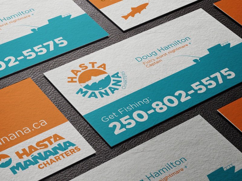 Hasta Manana Fish Charters Branding  logo branding business card