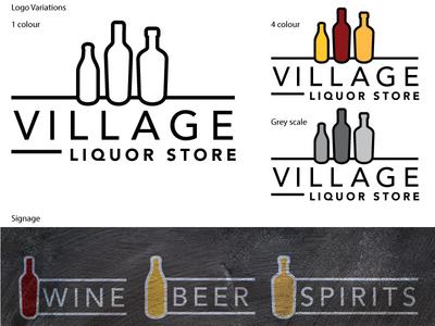 Village Liquor Store branding logo