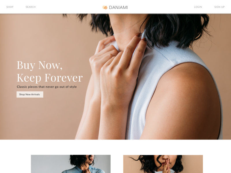 Clothing Store Landing Page clothing company ecommerce fashion navigation calltoaction hero image landing page ui  ux design ui  ux digital ux ui design