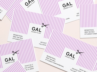 Business cards for Hairstylist typography print design branding hair cut businesscarddesign brand