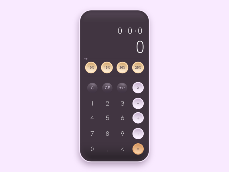 004 - Calculator digital vector illustration dailyui design ui