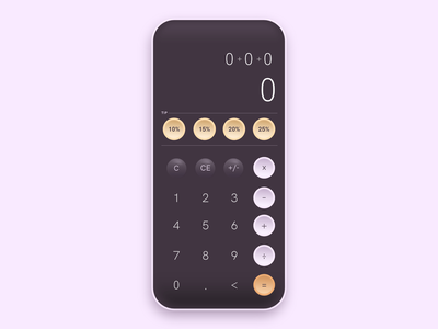 004 - Calculator digital vector illustration dailyui design ui