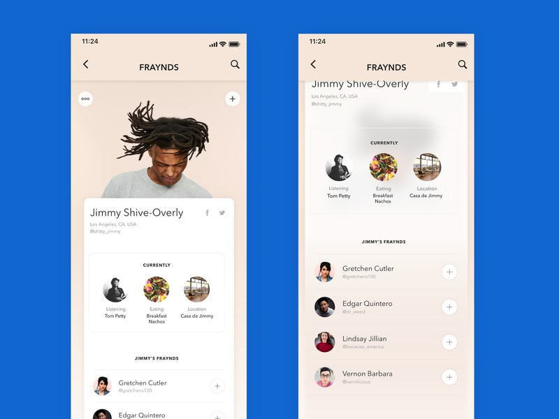 006 - User Profile app social media design mobile ux digital dailyui design ui