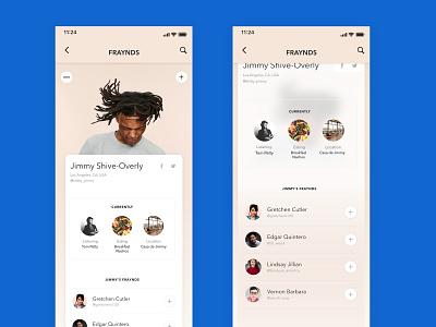 006 - User Profile app social media design mobile ux digital dailyui design ui
