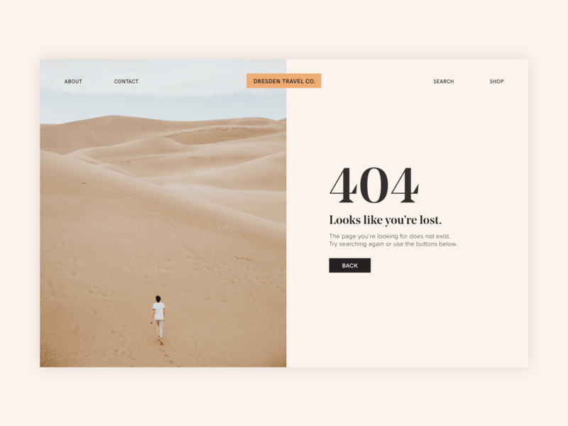 008 - 404 Page digital typography design brand dailyui ui